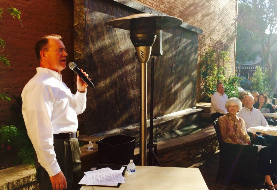 Jon Coupal, President of the Howard Jarvis Taxpayers Association, speaks at a Salinas Taxpayers Association event on August 24, 2015.