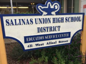Salinas Union High School District Sign